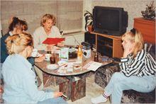 Das erste gemeinsame Meeting in unserer Wohnung
