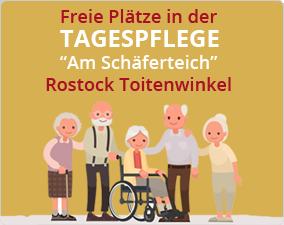 """Freie Plätze in der Tagespflege """"Am Schäferhof"""" in Rostock Toitenwinkel"""