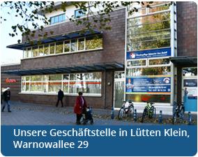 Die Geschäftsstelle in der Warnowallee 29 in Lütten Klein